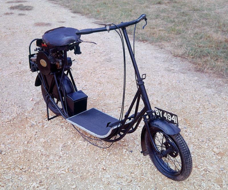A 1919 ABC Skootamota vintage motorcycle