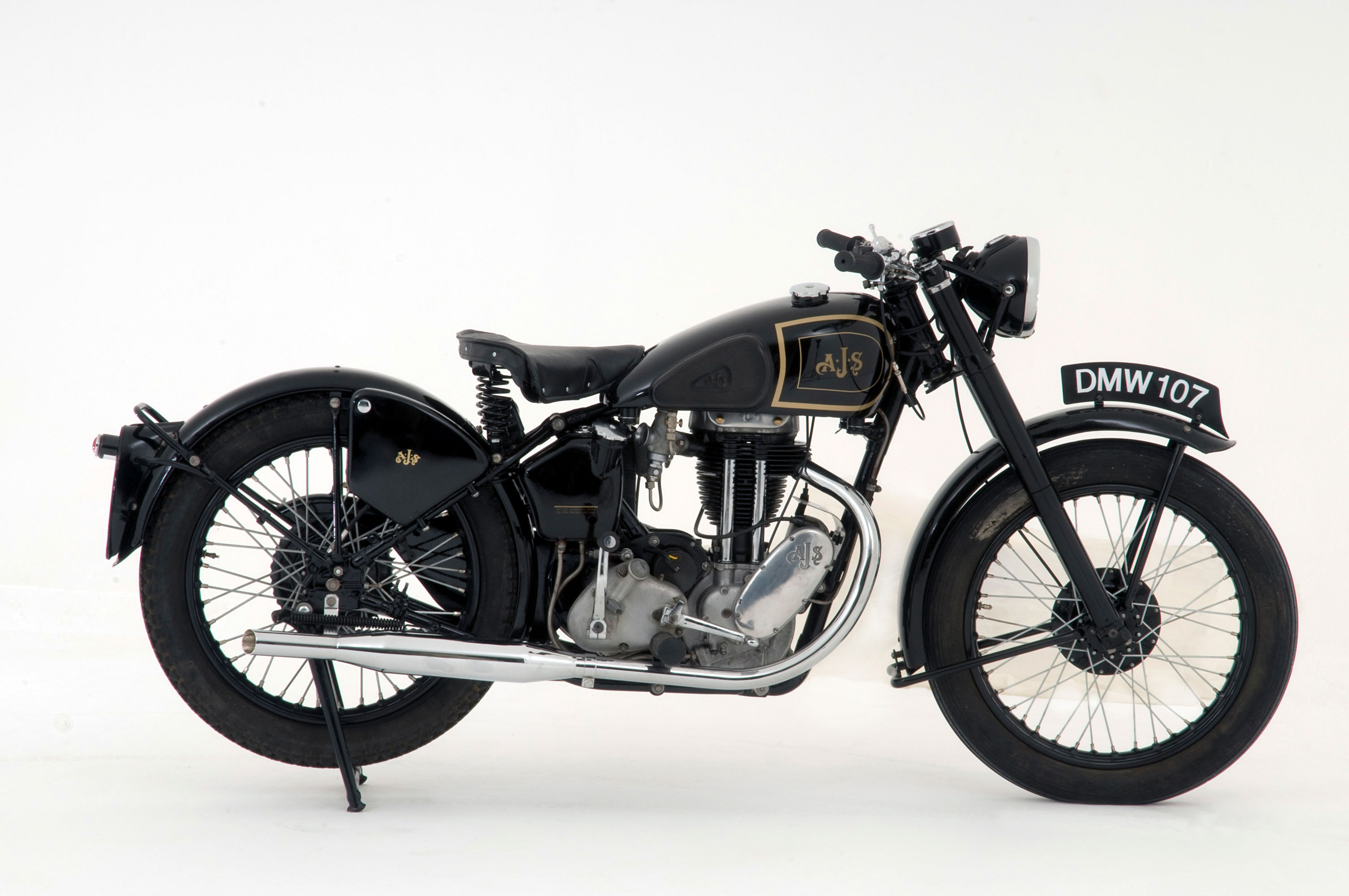 A 1946 AJS Model 16M motorcycle