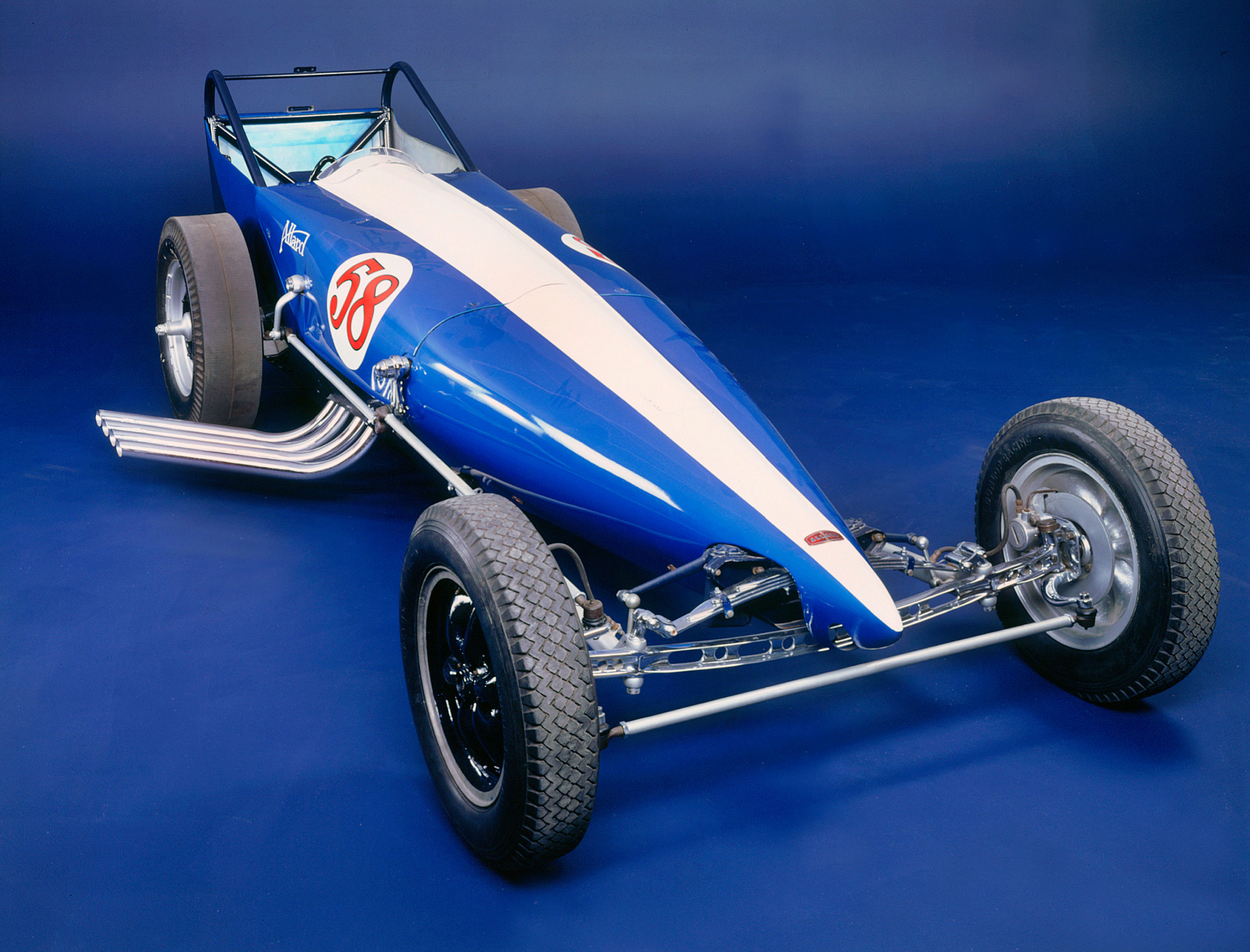 A 1961 Allard Dragster drag-racing car