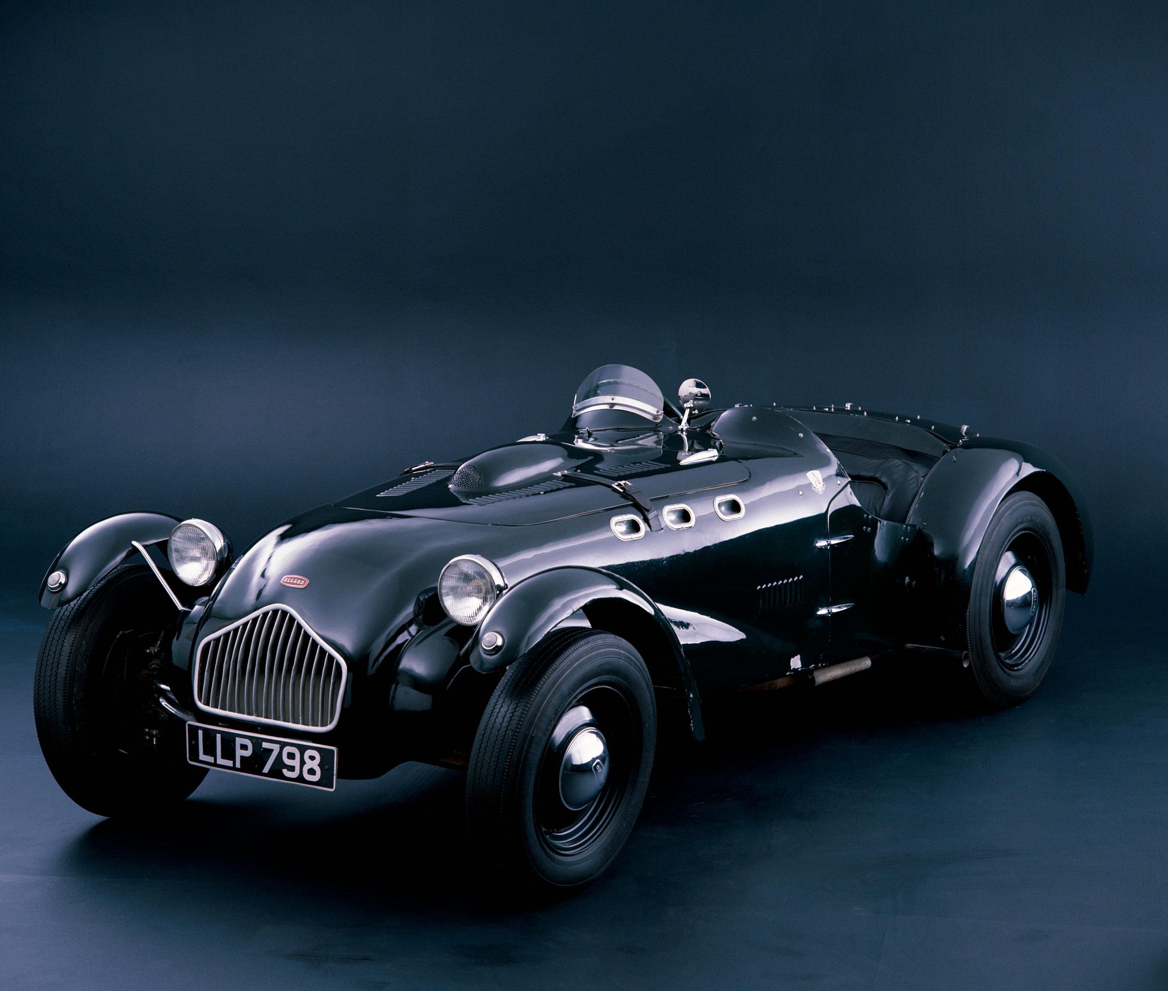 A 1950 Allard J2 racing car