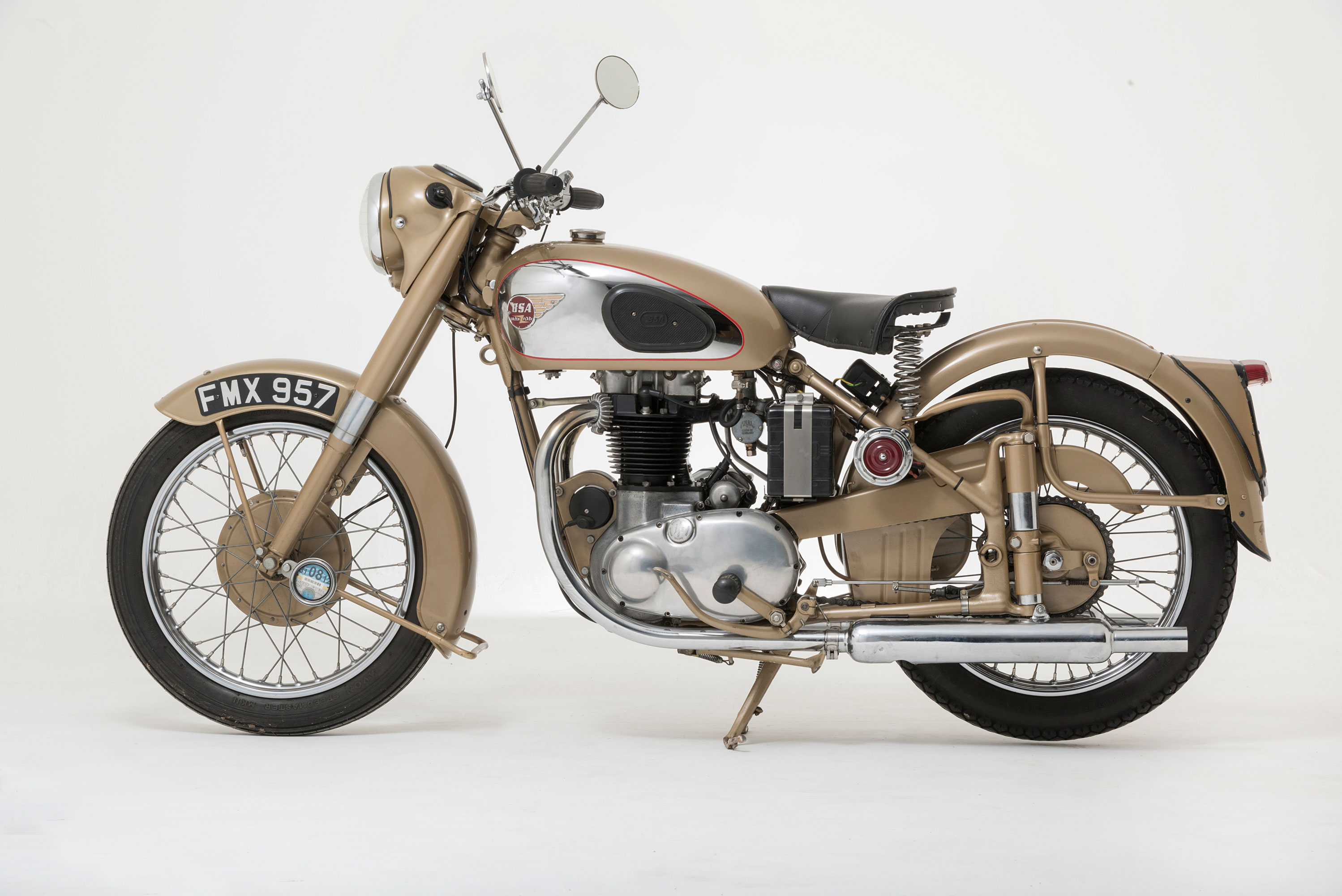 A 1953 BSA A10 Golden Flash motorcycle
