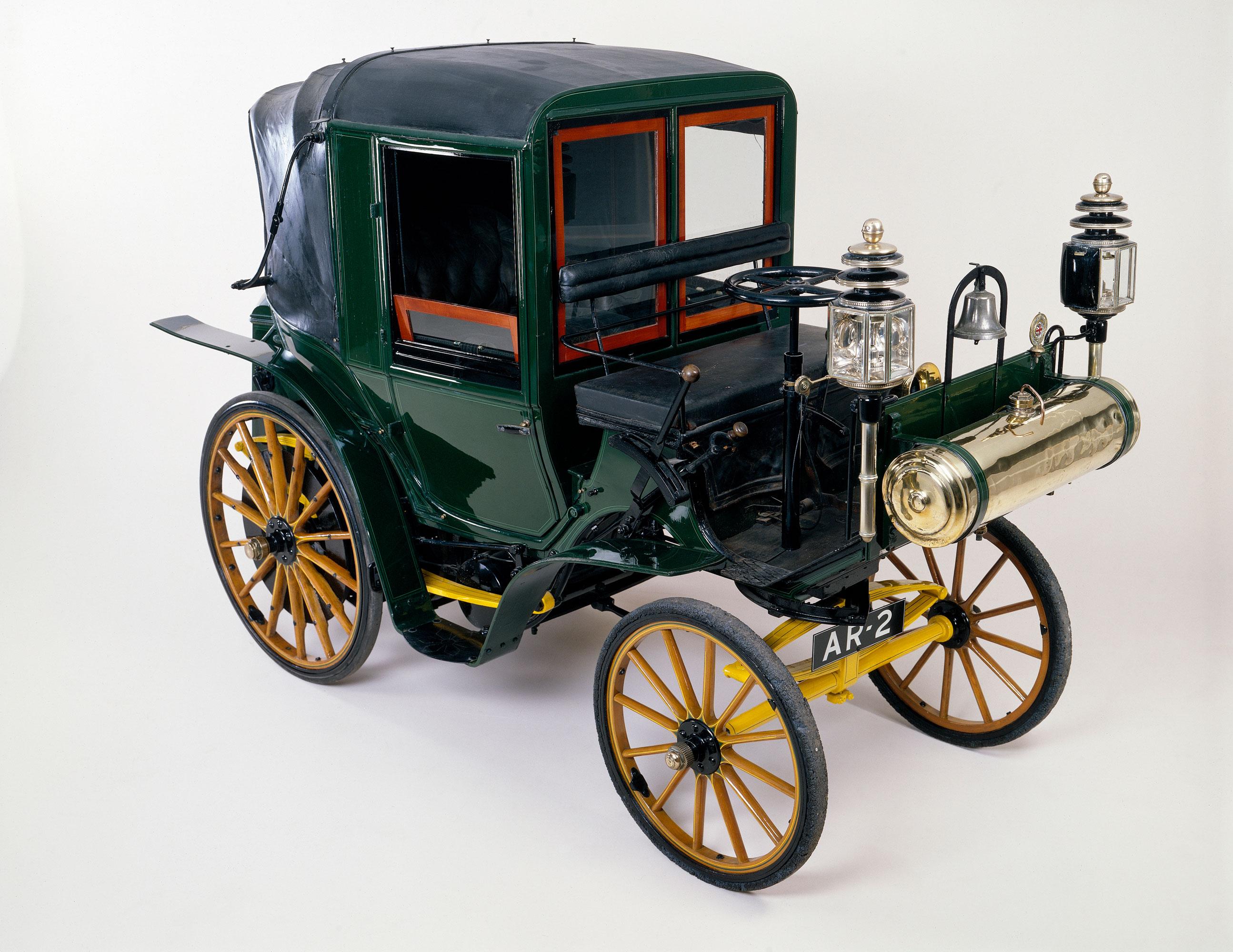 An 1898 Daimler Canstatt Horseless Carriage