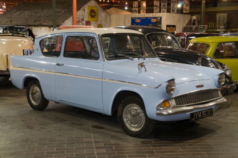 Ford Anglia 105E 'flying car' used in the Harry Potter films