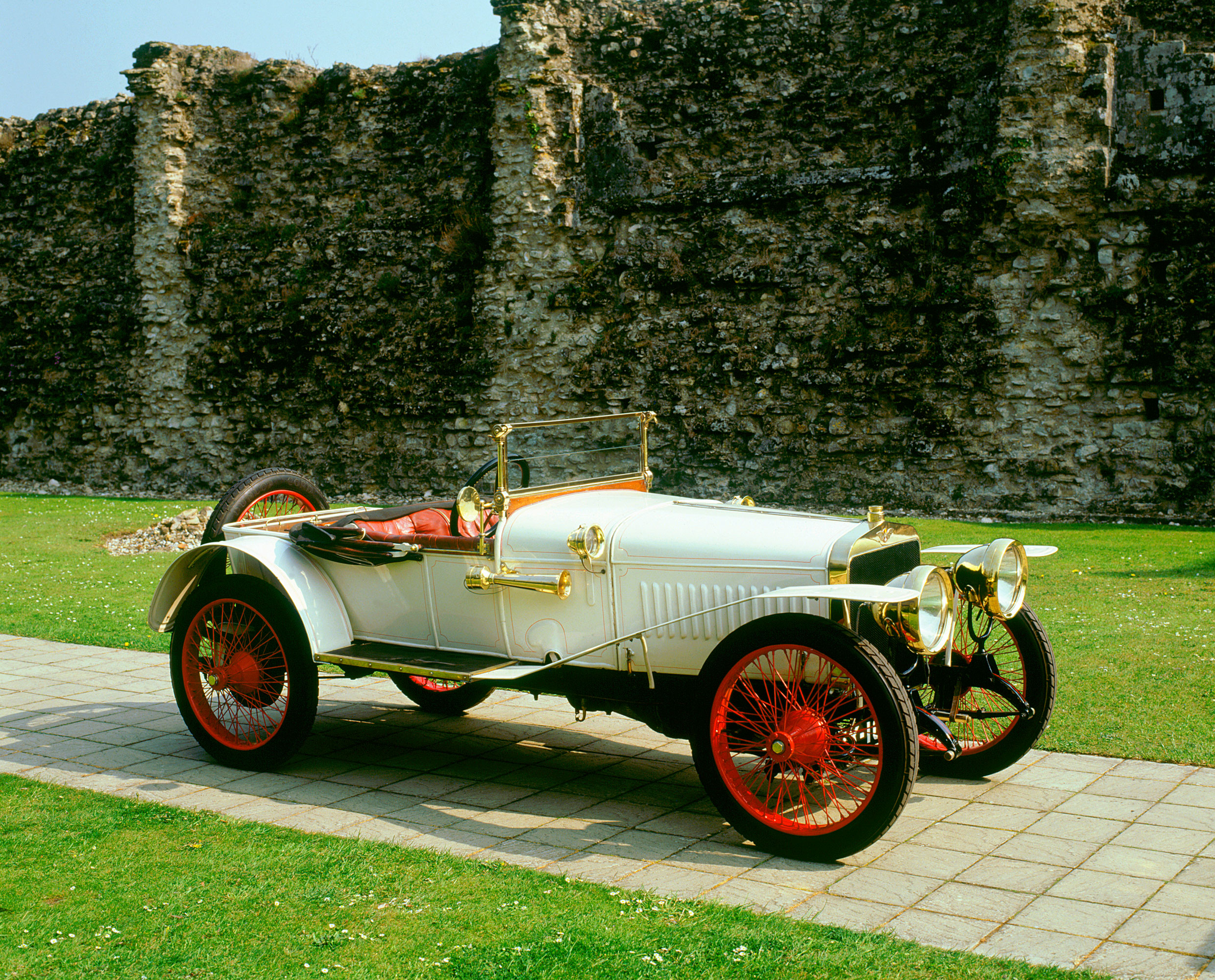 A 1912 Hispano Suiza Alfonso Xiii In The Abbey Ruins At Beaulieu