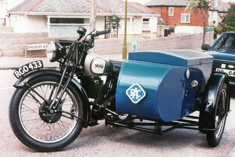 Norton 500cc RAC patrol combination 1936