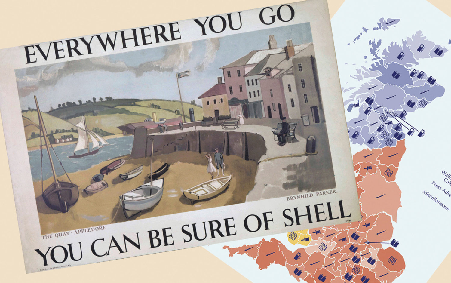 Shell Heritage Art Collection Discovering Britain postcard