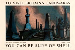Shell Poster 466 John Knox Monument, Pamela Drew, 1936