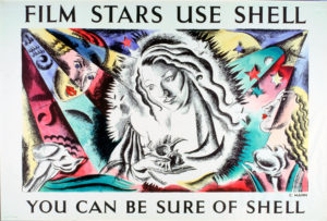 Shell Poster 525 Film Stars use Shell, Cathleen Mann, 1938