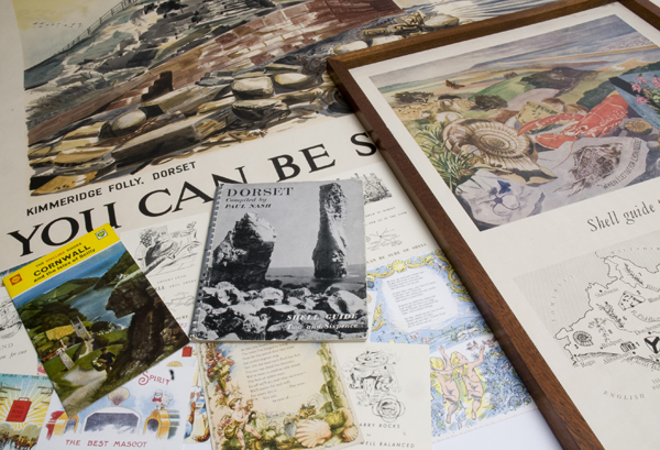 Posters and guidebooks from the Shell Heritage Art Collection
