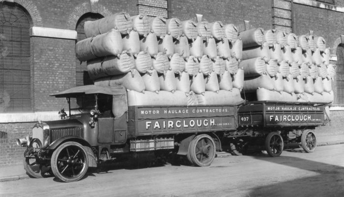 Fairclough commercial vehicle with load, 1924