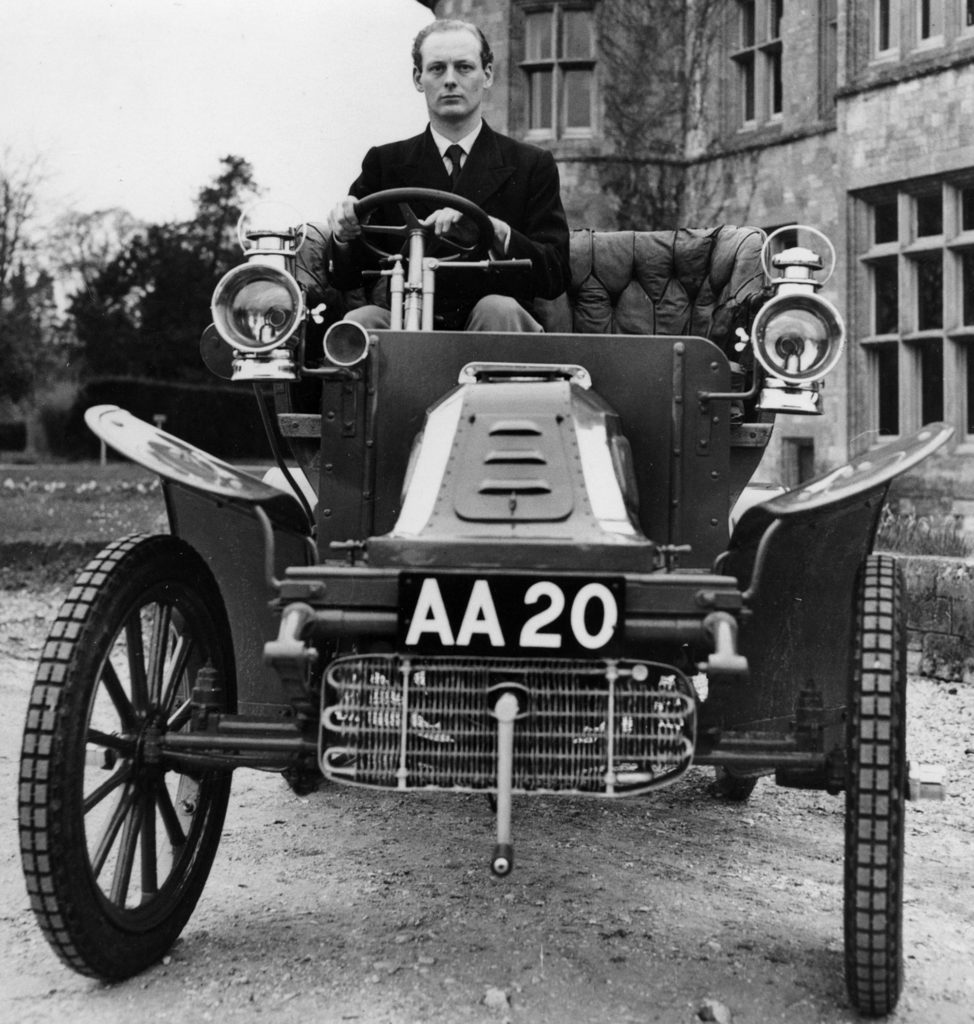 Edward, 3rd Baron Montagu of Beaulieu in the 1903 De-Dion, 1952