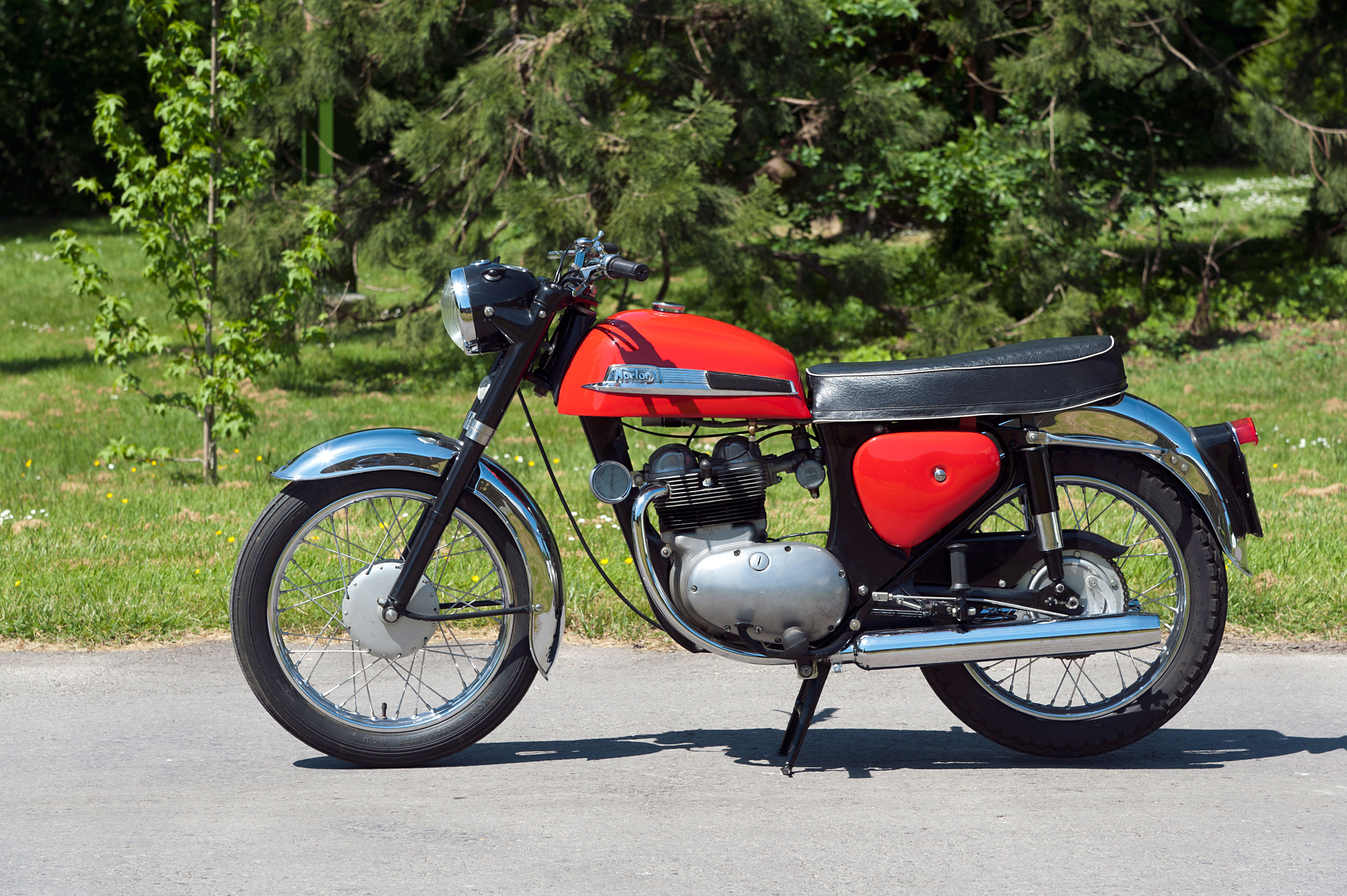 A 1961 Norton Jubilee 250cc motorcycle