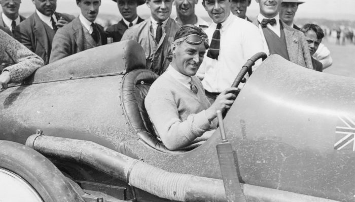 Sir Malcolm Campbell in the Sunbeam 350hp, 1920