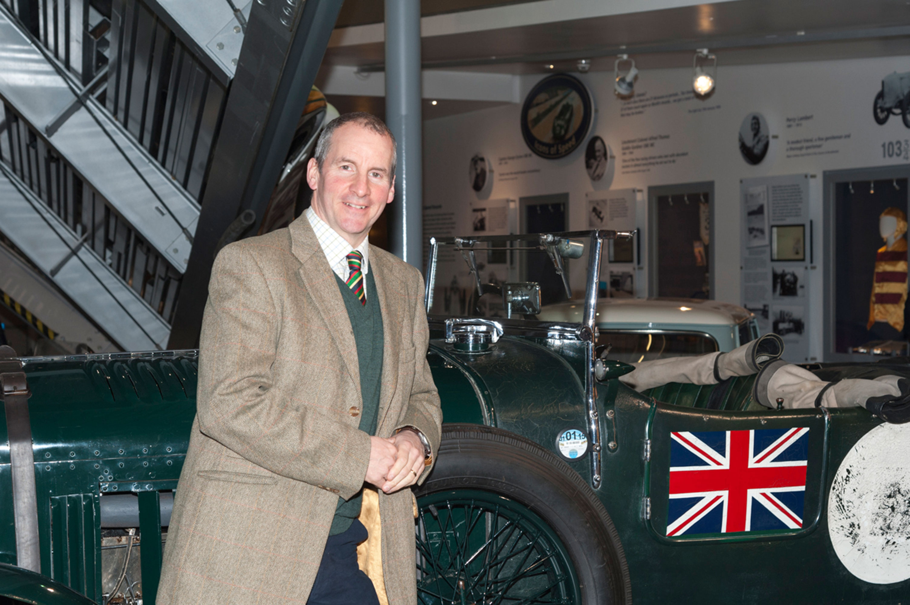 Chris Barrie at the National Motor Museum