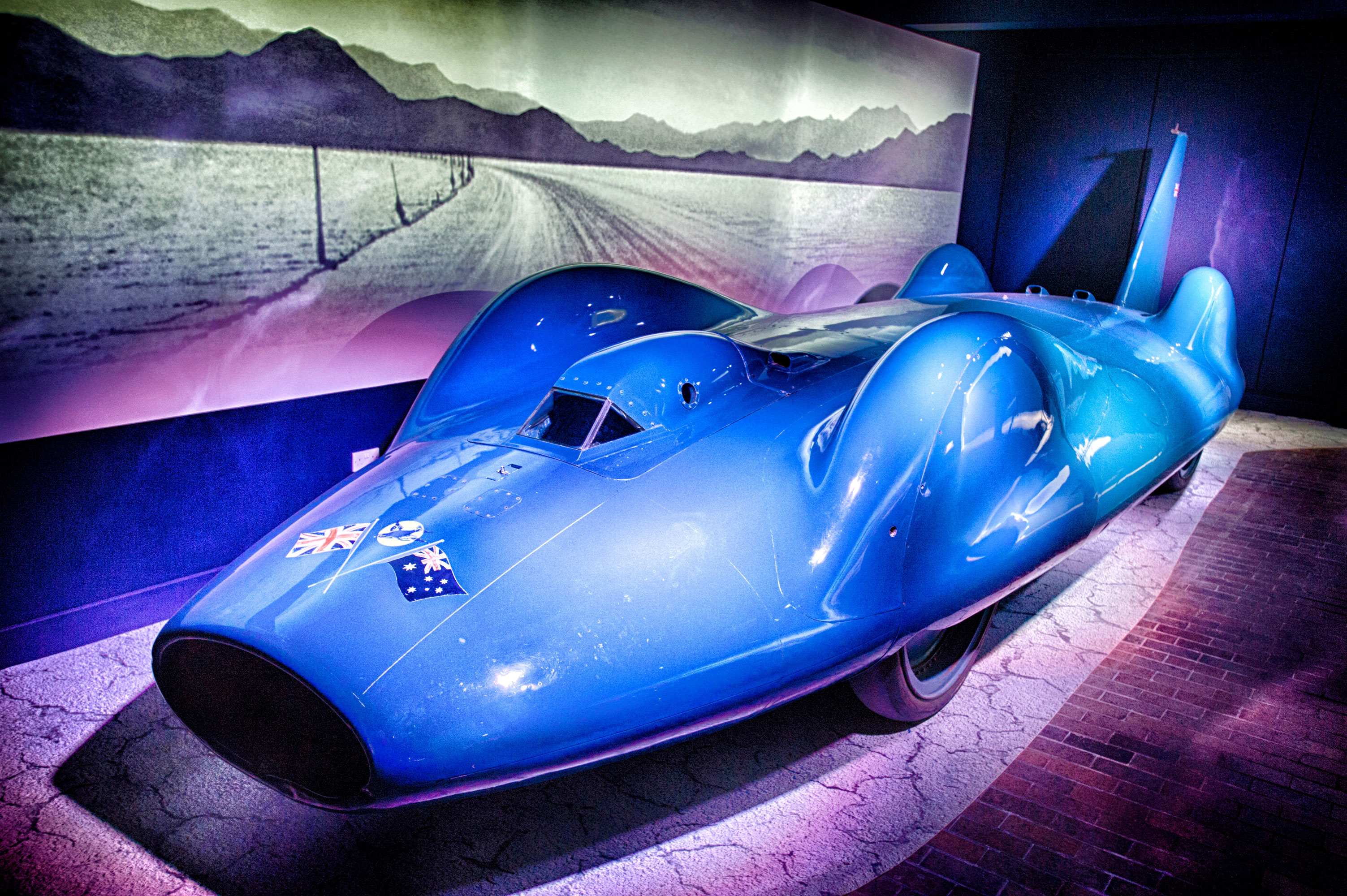 Bluebird CN7 on display in the National Motor Museum