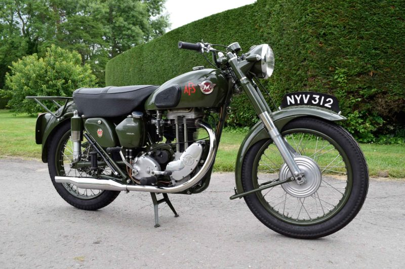 1954 Matchless Auxiliary Fire Service motorcycle