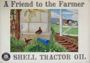 Shell poster called Wrens, Angela Barlow, 1952