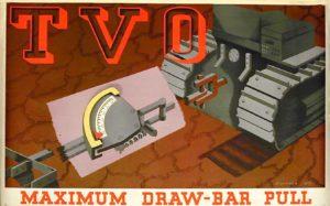 Shell poster titled: T.V.O. For Maximum Drawbar Pull, Bridget Workman, 1937