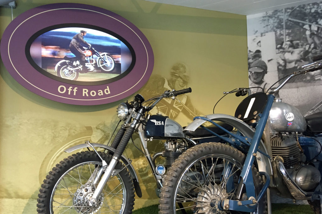 Motorcycle film footage in the museum