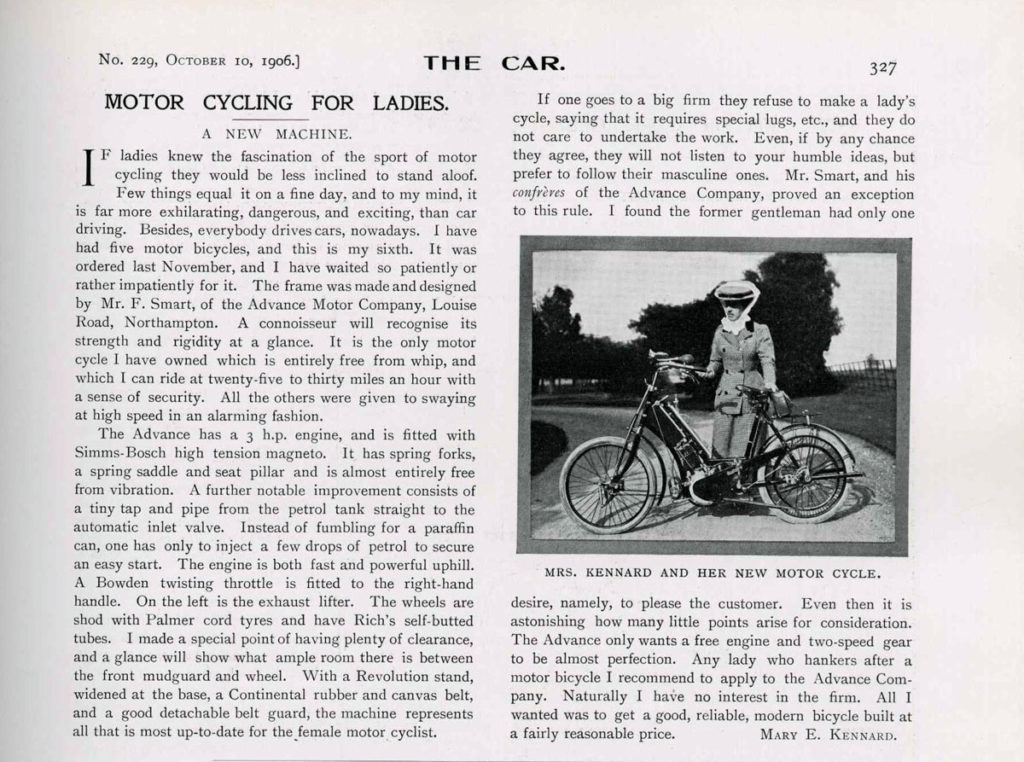 Mary Kennard article in The Car journal