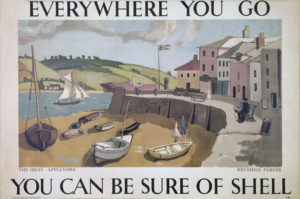 Shell Poster 341 of The Quay at Appledore in Devon by Margaret Brynhild Parker