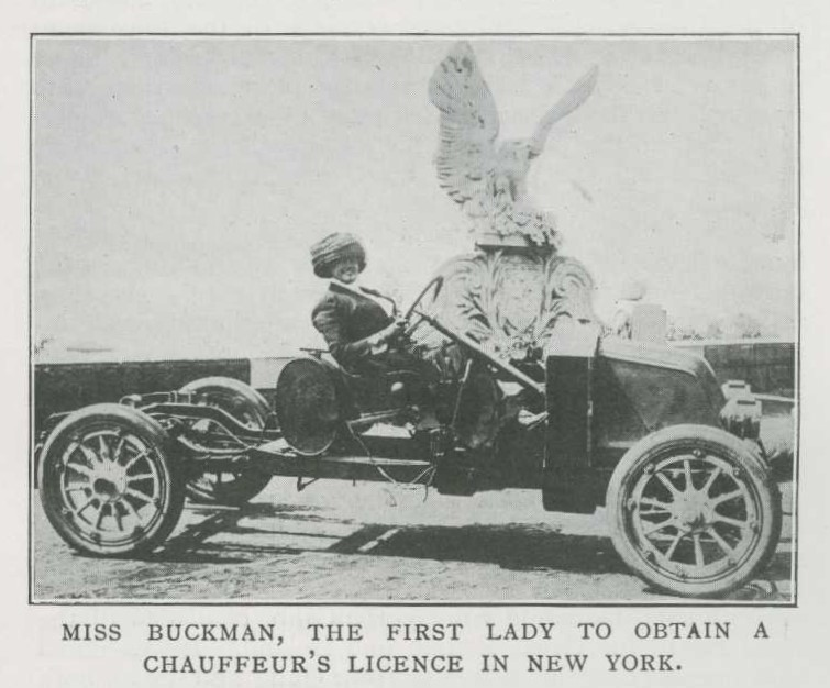 Image from the Car illustrated of Miss Buckman in her car