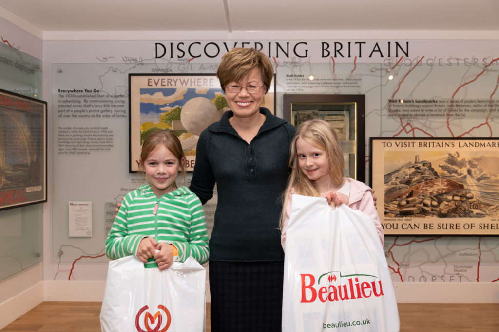 Lady Montagu with competition prize winners