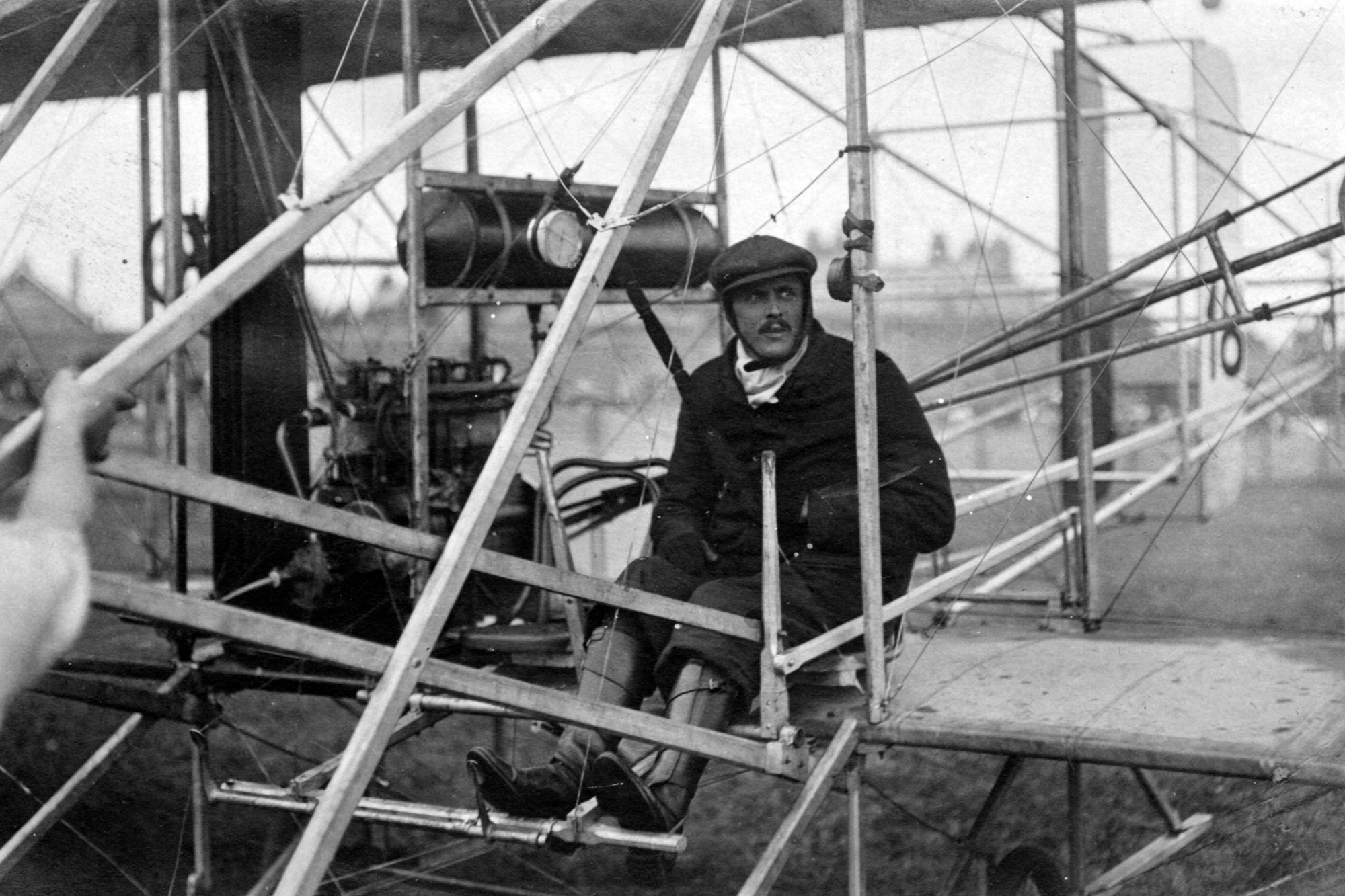 Charles Rolls in aircraft