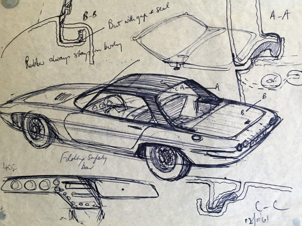 Lotus Elan sketch with detail