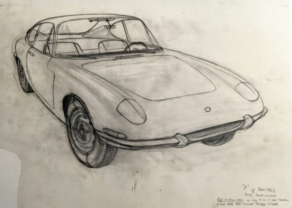 Lotus Elan sketch