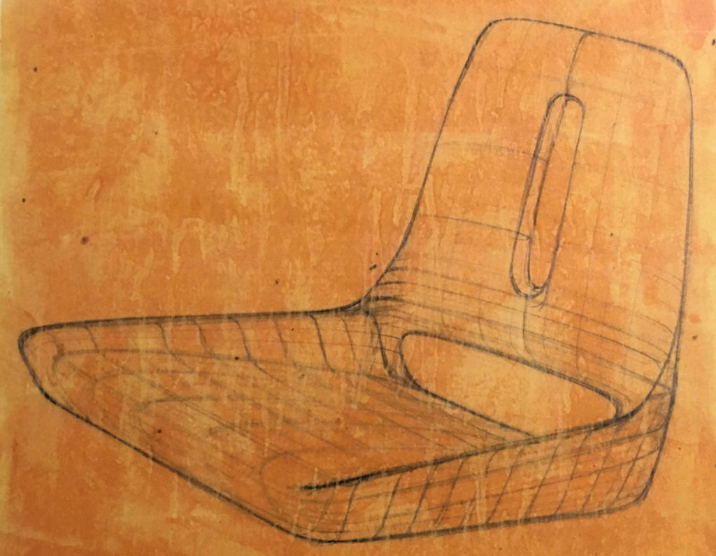 Sketch of the Lotus Elan seat