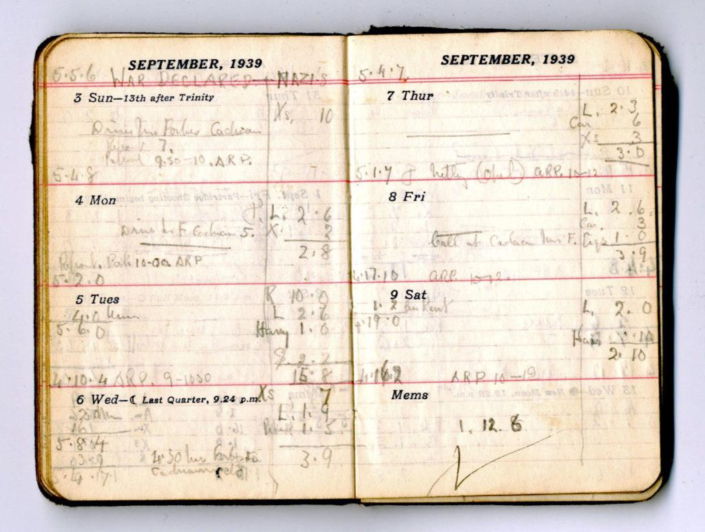 George Thorne Diary September 1939