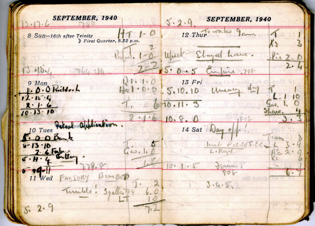 George Thorne Diary 1940
