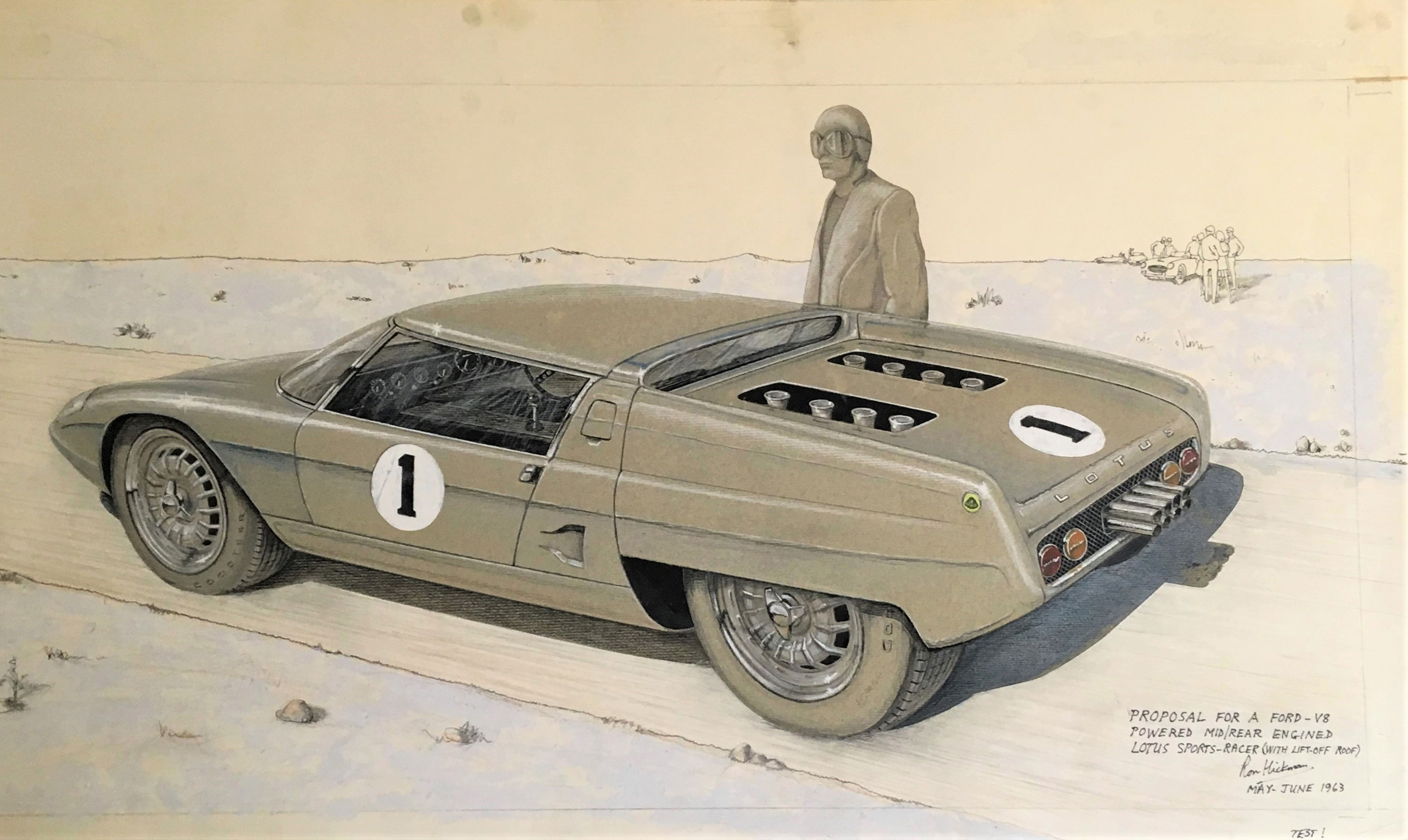 Design drawing of the Lotus Europa