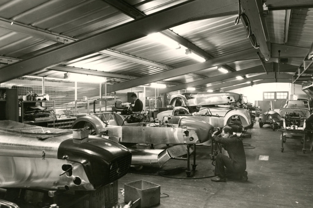Caterham Seven workshop