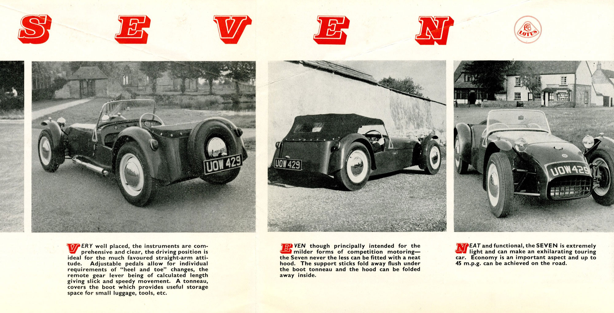 Lotus Seven brochure