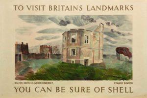 Poster of Walton Castle Somerset, 1936, Edward Bawden