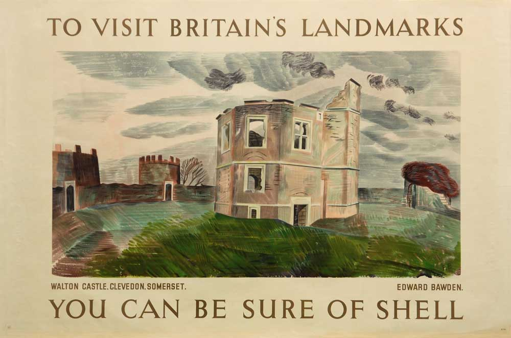Poster of Walton Castle Somerset, 1936, Edward Bawden