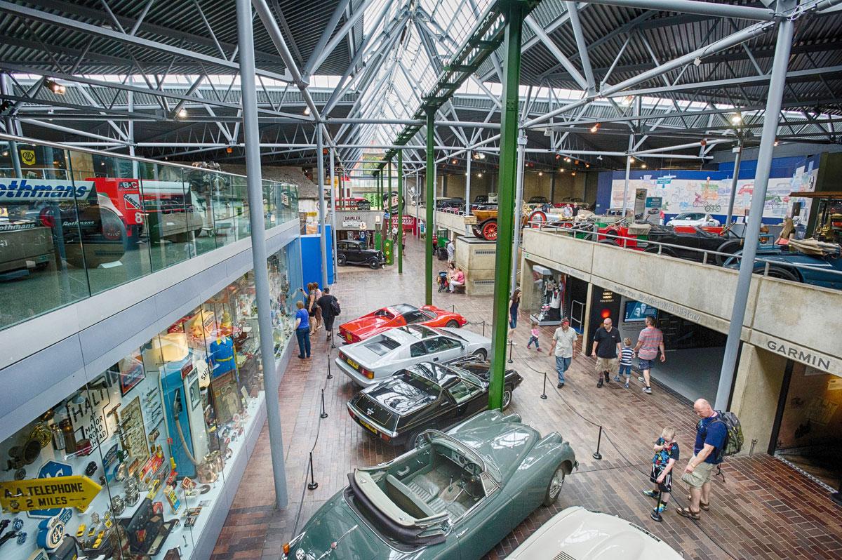 National Motor Museum interior upper floor