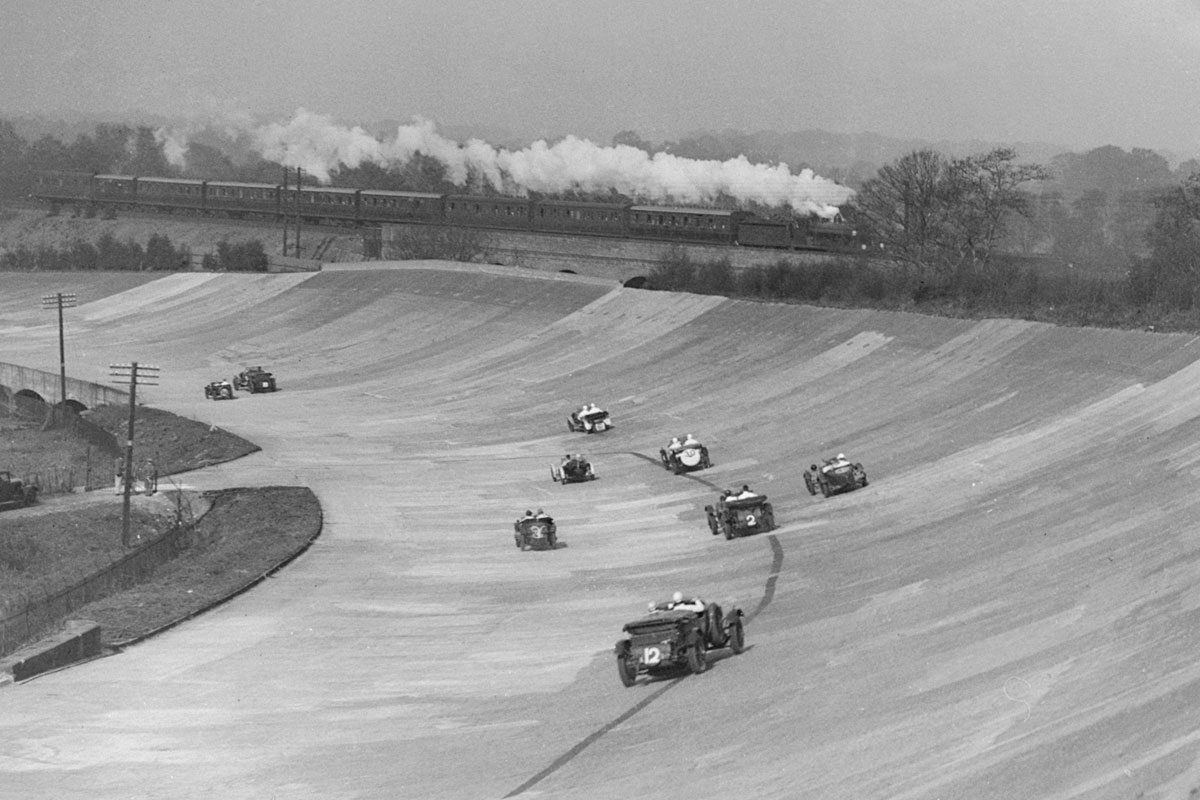 Archive image of Brooklands Race track