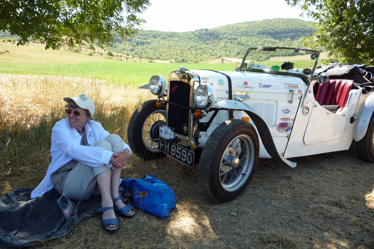 Joy Moody with Austin Seven