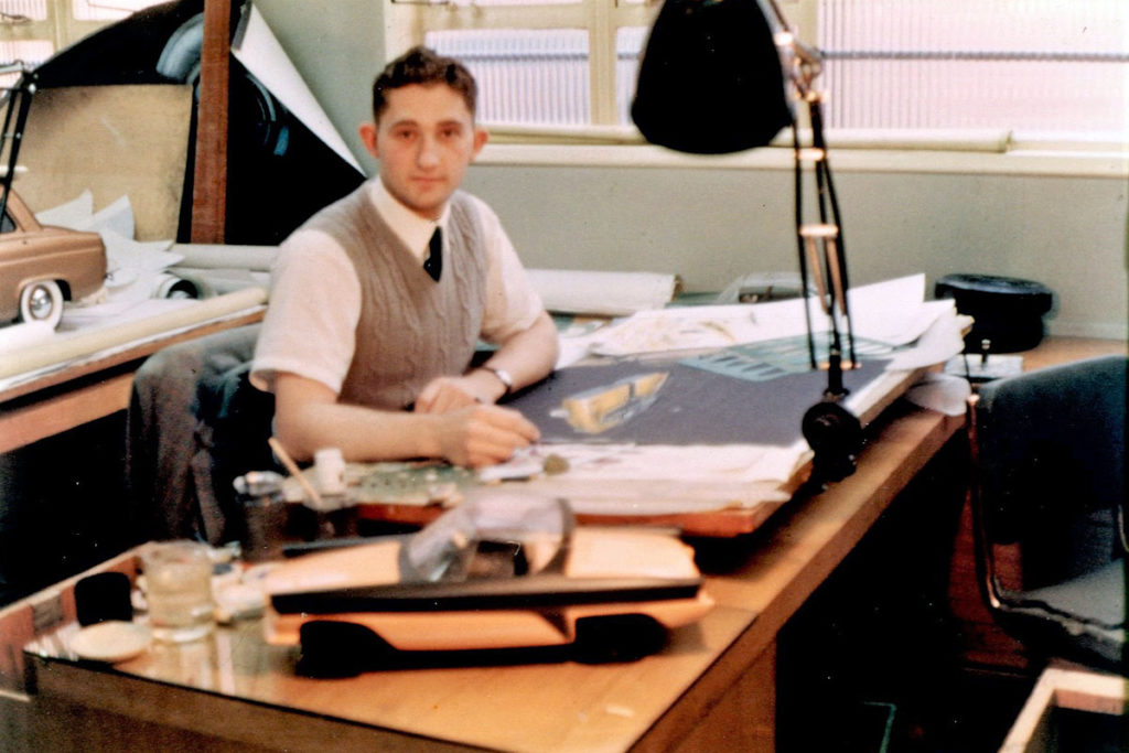 Ron Hickman working at desk