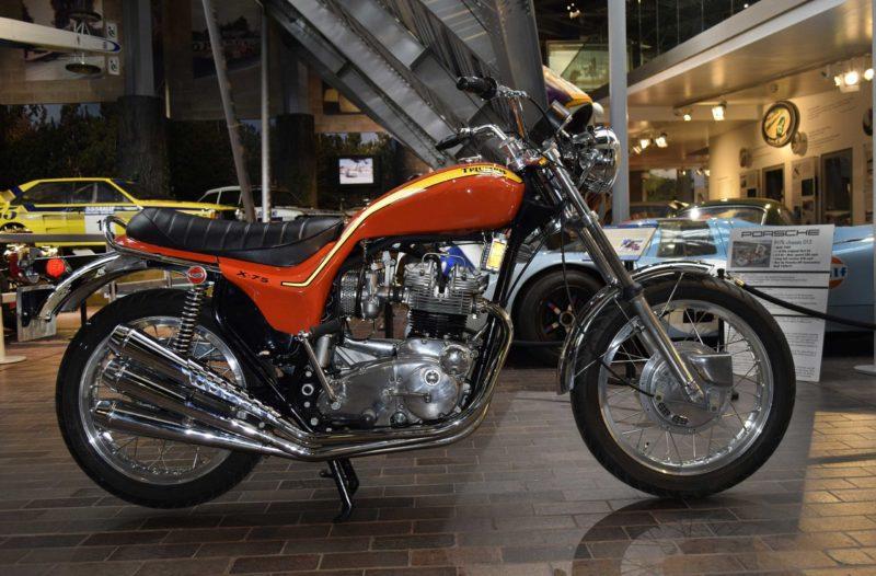 A 1972 Triumph Hurricane motorcycle