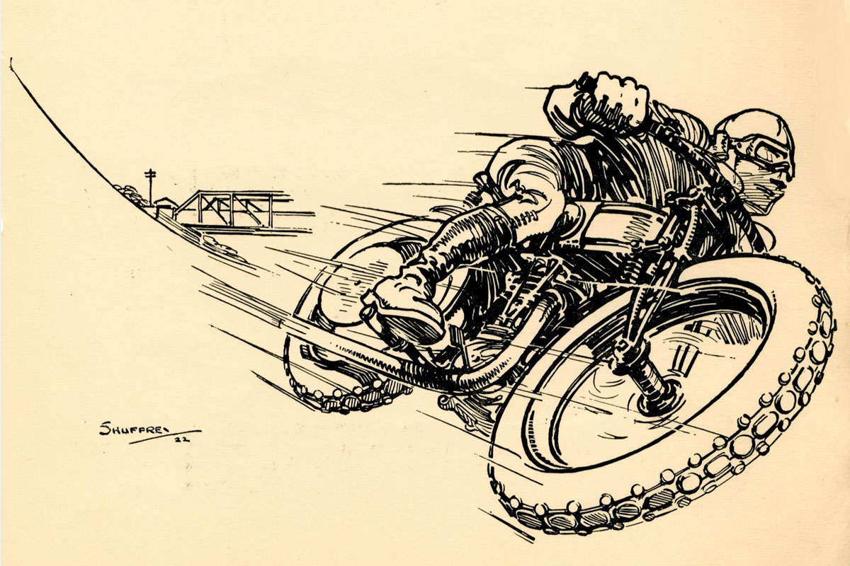 Tyresome tales bike illustration