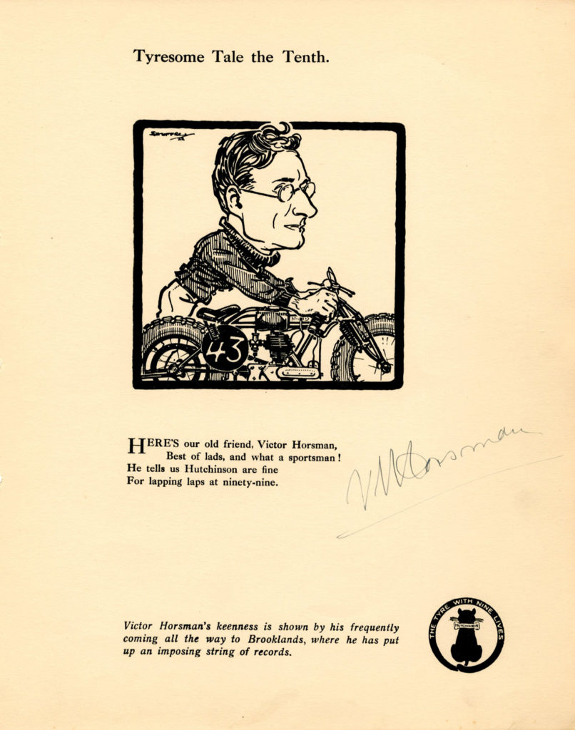 Tyresome tale tenth, with illustration of Victor Horsman