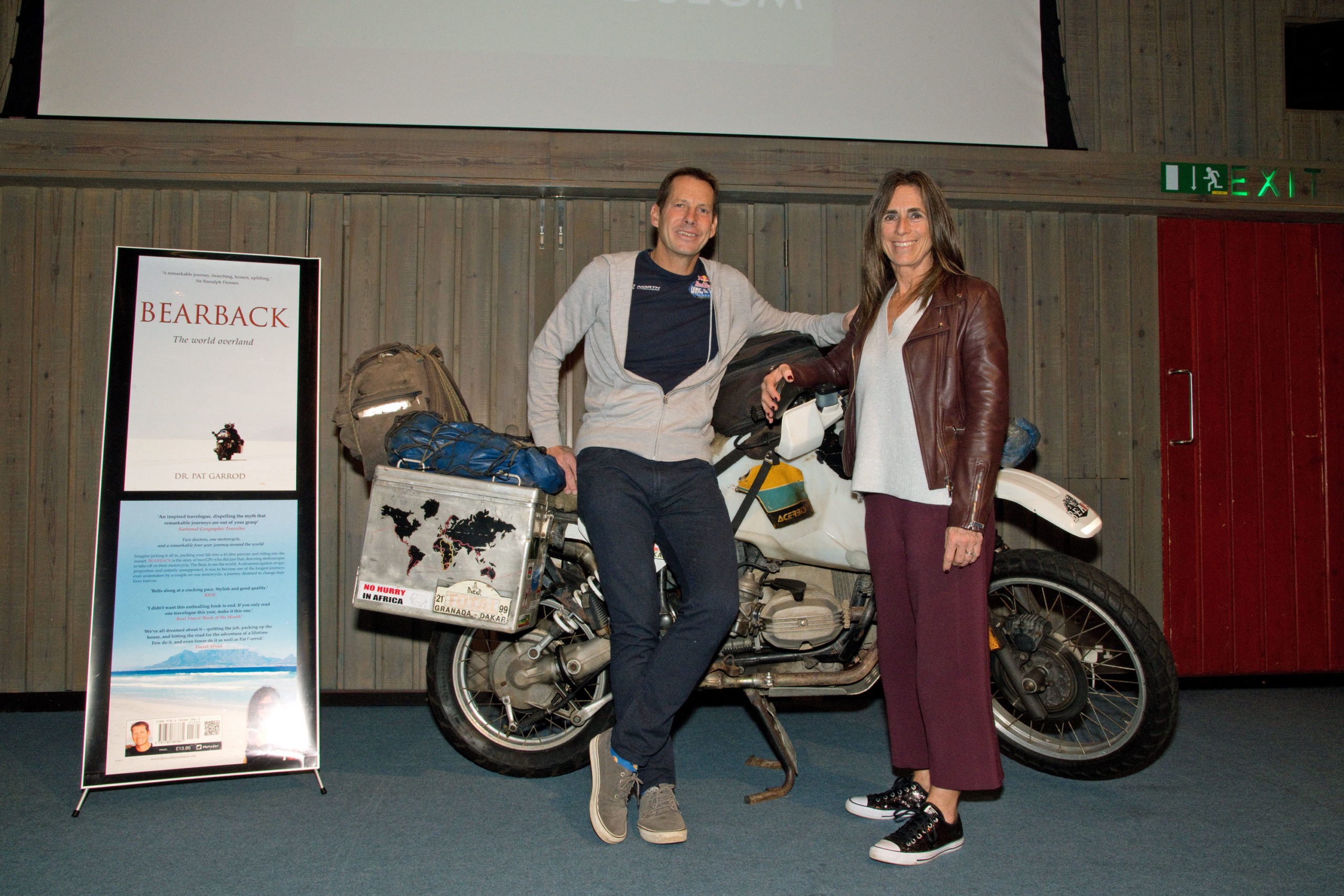 Pat and Ness Garrod at the National Motor Museum Friends evening