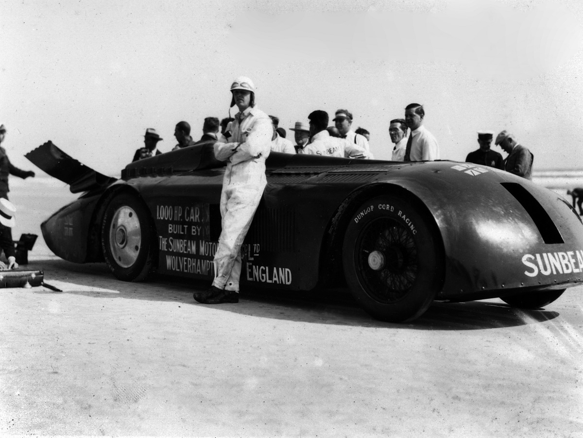 Segrave with the 1000hp Sunbeam at Daytona, March 1927