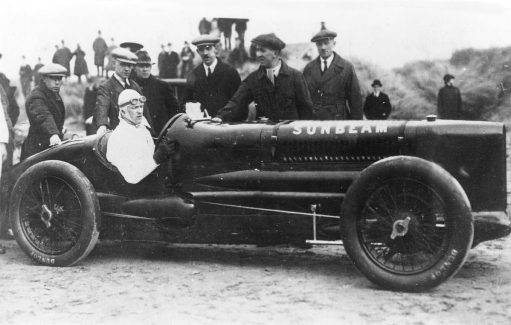 Henry Segrave in the Sunbeam Tiger at Southport. March 1926
