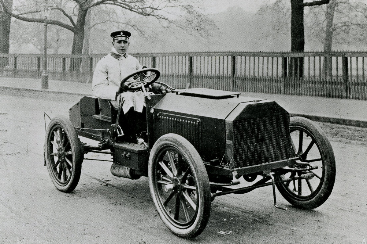 Charles Jarrott in the 1903 Napier at the Gordon Bennett races