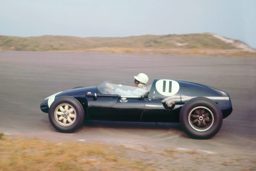 Stirling Moss in Cooper Climax at the Dutch GP, 1959.